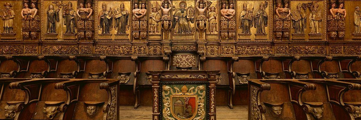 Coro alto do Mosteiro de São Martinho de Tibães, lado poente.