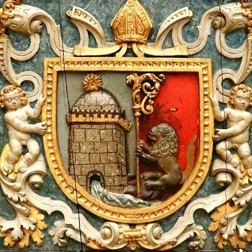 Brasão da Congregação Beneditina dos Reinos de Portugal e do Brasil.