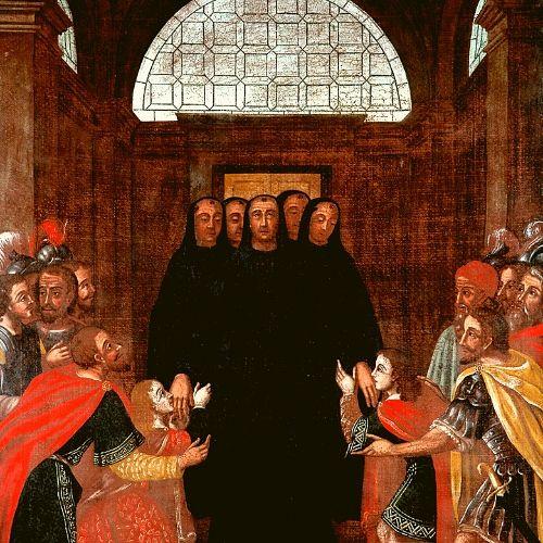 Pintura a óleo sobre tela existente no coro alto do Mosteiro de São Martinho de Tibães, em Braga.