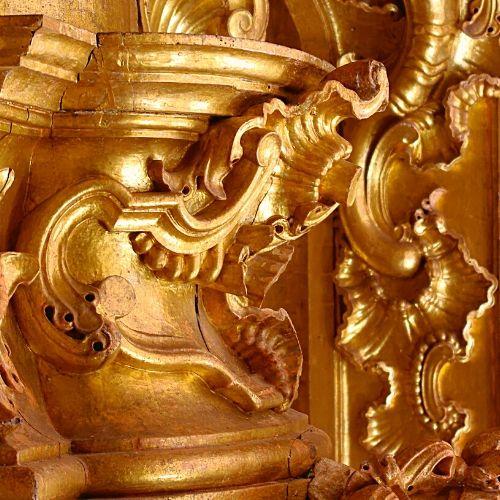 Talha dourada do Mosteiro de São Martinho de Tibães.