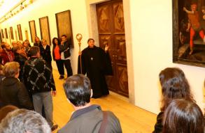 Visita encenada ao Mosteiro de São Martinho de Tibães, realizada no âmbito da Braga Barroca e Jornadas Europeias do Património 2019