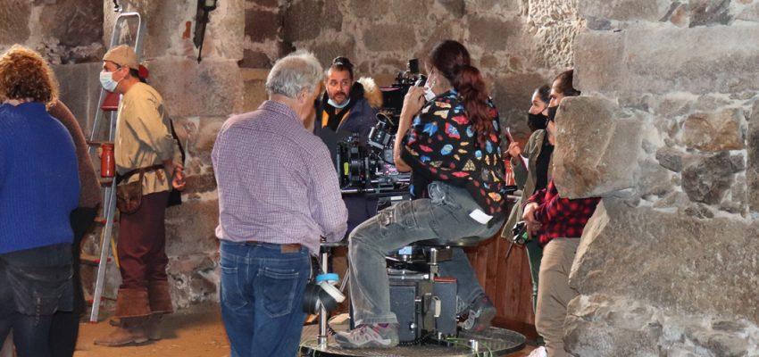Filmagens no Mosteiro de São Martinho de Tibães, relativas à série televisiva Fernão Lopes.